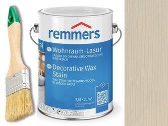 Lazura woskowa Remmers do wnętrz 2,5 L SZARY