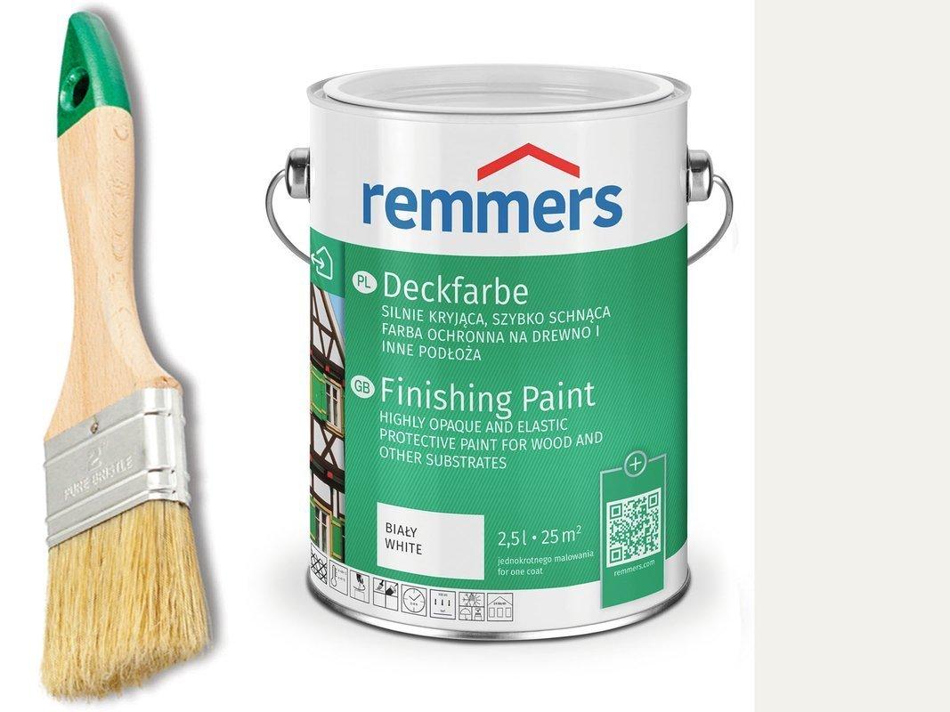 Remmers Deckfarbe do drewna metalu BIAŁY 0,75 L