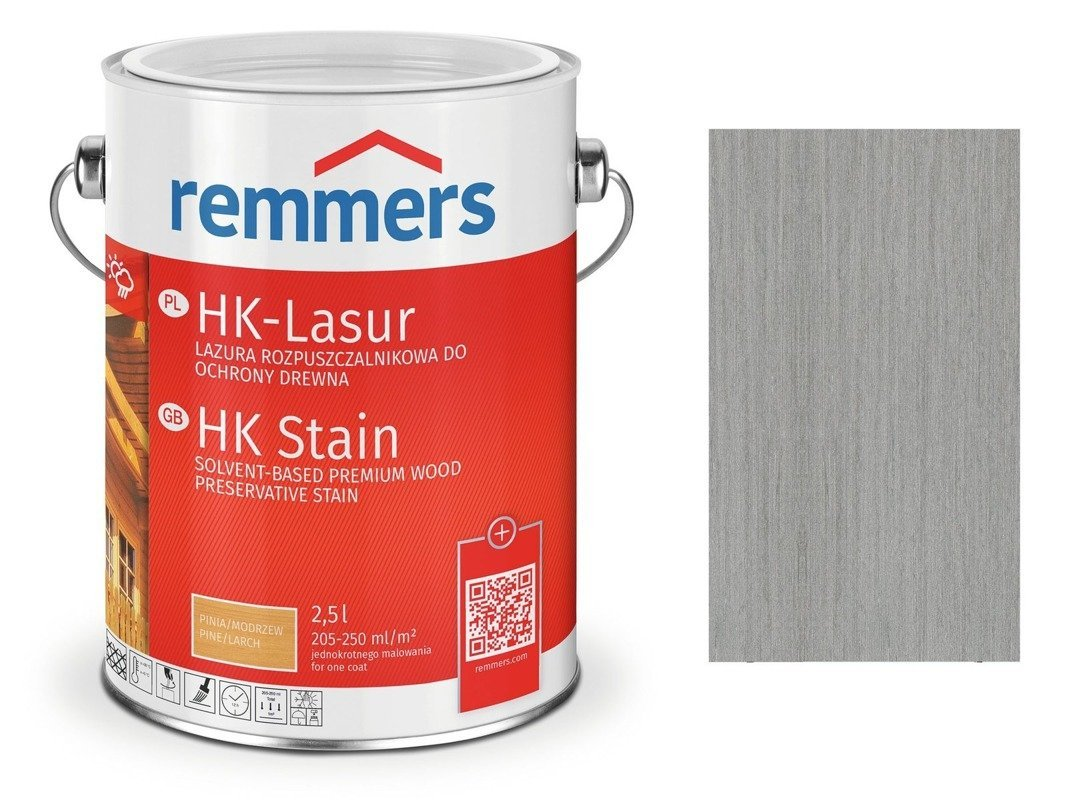 Remmers HK-Lasur impregnat do drewna 2,5 L GRAFIT