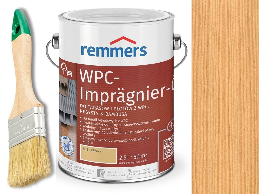 Remmers Olej do tarasów płotów Bezbarwny 0,75 L
