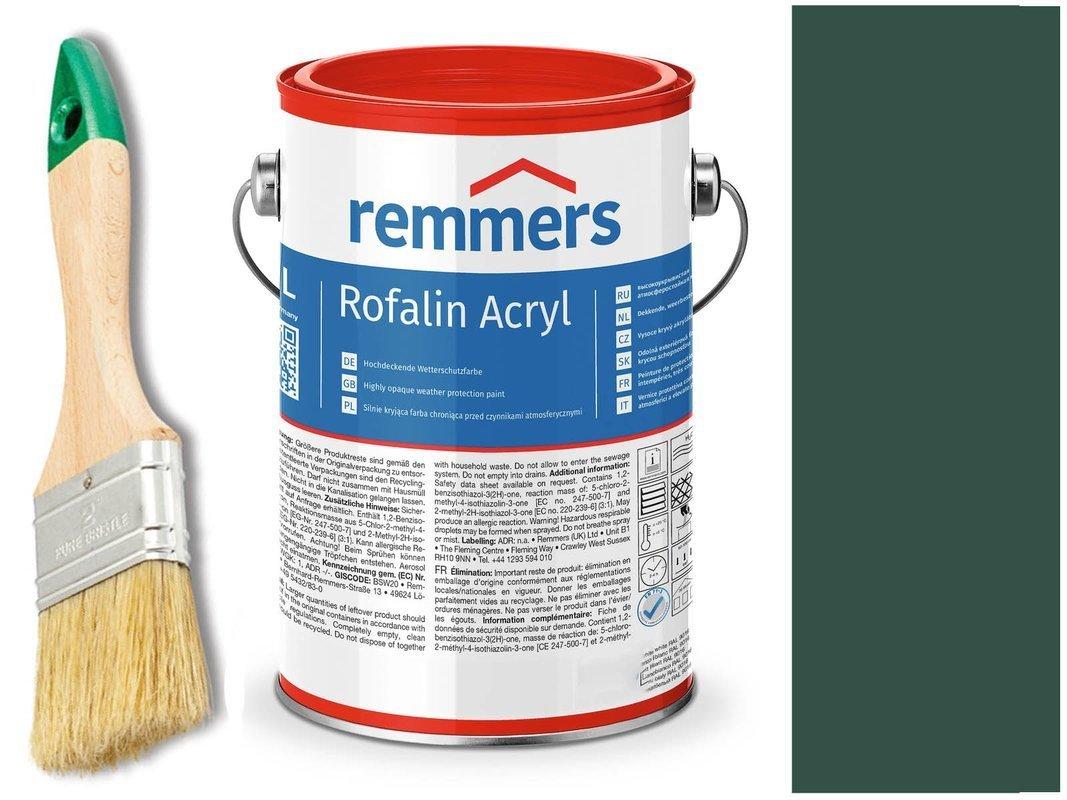 Remmers Rofalin Acryl farba do drewna ZIELONY 2,5L